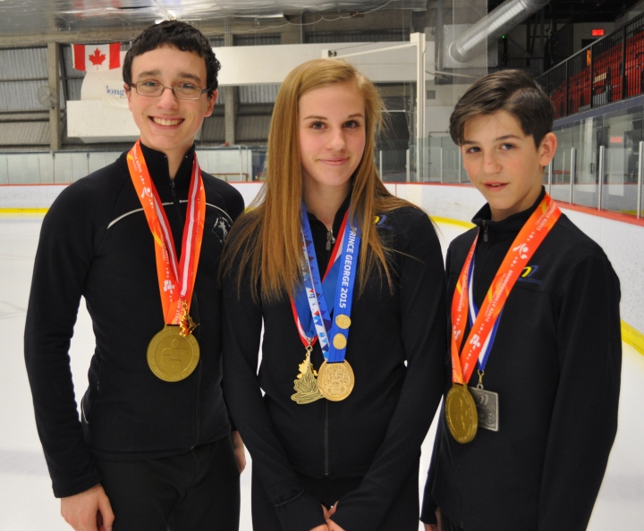 William Jalbert, Arianne Bonneau et Bryan Pierro, du CPA Saint-Hubert.