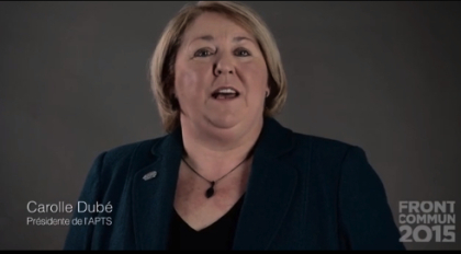 La présidente de l'APTS, Carolle Dubé.