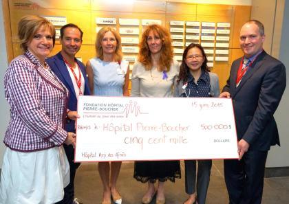 Le chèque d'un demi-millions a récemment été remis à la Fondation de l'Hôpital Pierre-Boucher