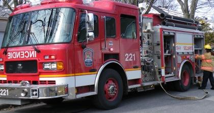 Les pompiers ont combattu un feu à Saint-Hubert.