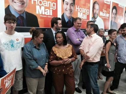 Les candidats NPD veulent lutter contre la violence faite au femmes.