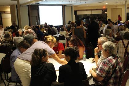 Les gens ont été nombreux à répondre à l'invitation de la Ville de La Prairie pour participer aux rencontres citoyennes.