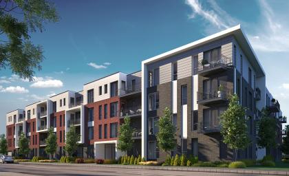 Nouveau complexe locatif en construction à Longueuil.