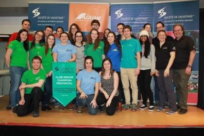 Sauvetage Sportif Saint-Lambert est récipiendaire de la bannière du Club senior ayant récolté le plus de points aux Championnats québécois de sauvetage - Technique 2016.