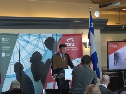 Le ministre Bill Morneau, en conférence à la CCIRS.