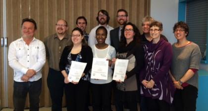 Le comité qui a dévoilé les résultats d'une étude sur l'itinérance dans la MRC Marguerite-D'Youville.