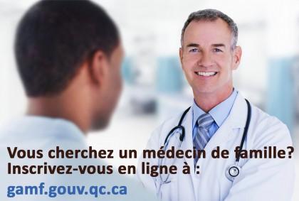 Le ministère de la santé et des services sociaux du Québec a mis à la disposition des citoyens un guichet d'accès à un médecin de famille.