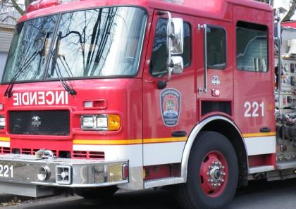 Les pompiers sont intervenus à Saint-Bruno, où un travailleur a été gravement brûlé.