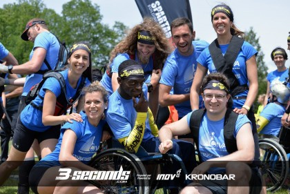 Team Woody, Dead end race, juin 2015 – avec Annie Verret, Josianne Trottier, Woody Belfort, Damien Langlois-Verret, Félix Coderre-Hudon et Frédéric Pellerin.