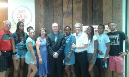 Des jeunes de la ville des Abymes en Guadeloupe ont visité Boucherville.