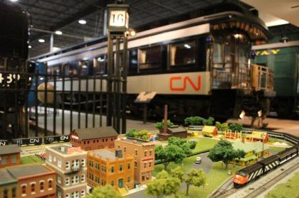 Exposition de trains miniatures à l'Exporail.