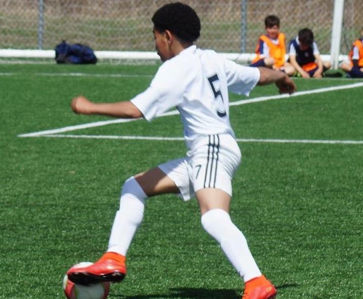 Le joueur de catégorie U12, Nathan-Dylan