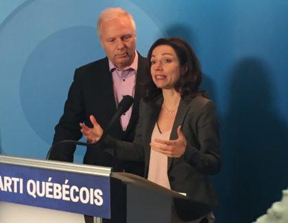 Le chef du Parti Québécois, Jean-François Lisée et la députée de Vachon, Martine Ouellet.