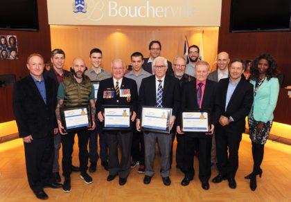 Les élus de Boucherville ont remis des distinctions honorifiques à des citoyens et organismes,