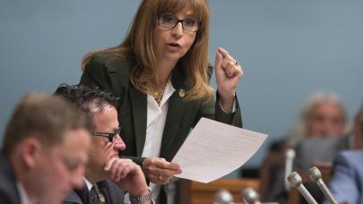 La députée Nathalie Roy et la CAQ disent non à la possible construction d'un quartier musulman sur la Rive-Sud.