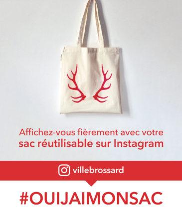 Brossard tient une campagne de Noël #ouijaimonsac sur Instagram.